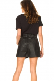 Silvian Heach |  T-shirt with sequins Tandar | black  | Picture 7