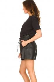 Silvian Heach |  T-shirt with sequins Tandar | black  | Picture 6
