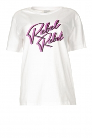 Silvian Heach |  T-shirt with imprint Edith | white  | Picture 1