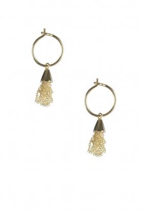 14k plated gold earrings Little Floss | gold