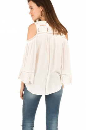 Hale Bob | Off-shoulder top Frankie | wit