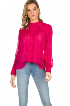 Munthe | Top met glitterdetails Naked | roze
