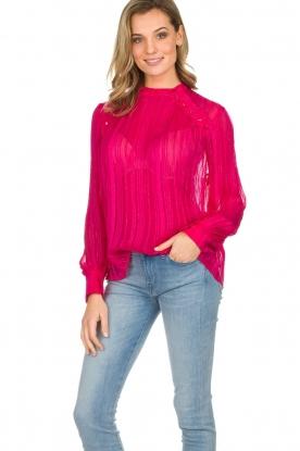 Munthe | Top met glitterdetails Naked | roze