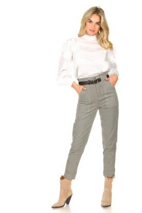 Magali Pascal    Paperbag jeans Sisley   grey