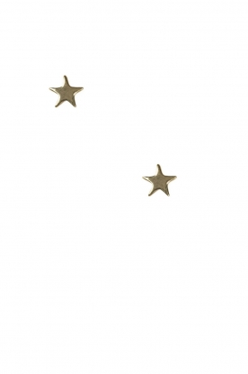 Betty Bogaers | 14k verguld gouden oorbellen Asymmetric Star | goud