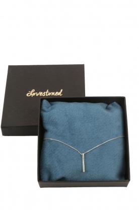 Touchable | Gouden halsketting Tube | witgoud