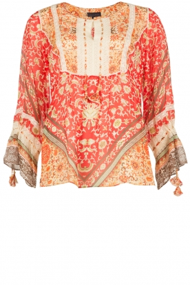 Hale Bob |  Silk blouse Barbra | red