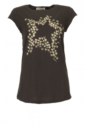 Rabens Saloner |  T-shirt with stars print Elixia | grey