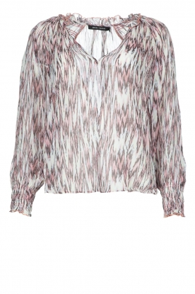 Magali Pascal | Top with print Kali | pink