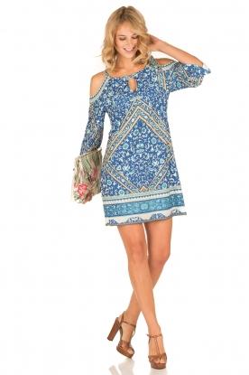 Hale Bob | Off-shoulder jurk Mari | blauw
