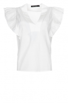 Magali Pascal | Top with ruffles Sumba | white