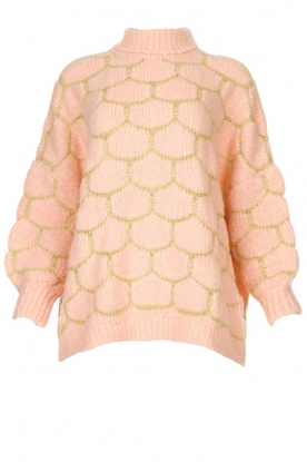 Rabens Saloner | Oversized  sweater Cora | pink