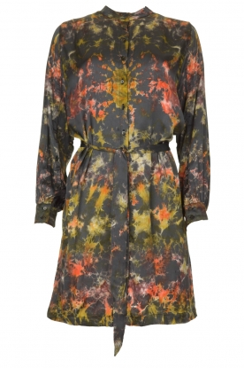 Rabens Saloner | Tie-dye dress Carli  | green