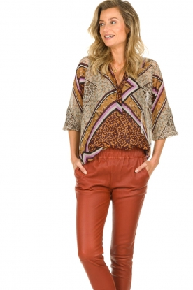 Dante 6 |  Blouse with print Rayner | brown