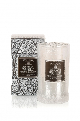 Voluspa |  Scented candle Petite Maison French bourbon vanille | white