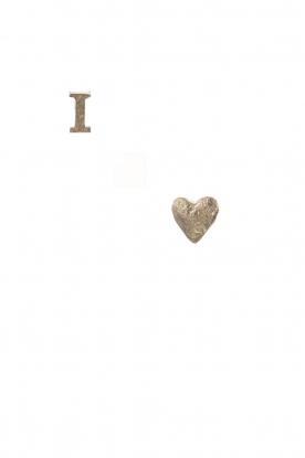 Betty Bogaers | 14k verguld gouden oorbellen I Love | goud
