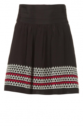 Magali Pascal |  Skirt with embroided details Alexi | black