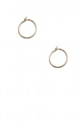 Betty Bogaers | 14k verguld gouden oorbellen Plain Hoop | goud