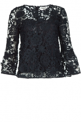 Essentiel Antwerp |  Lace top Pimono | Dark blue