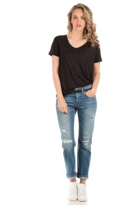 Denham | T-shirt Cinder | zwart