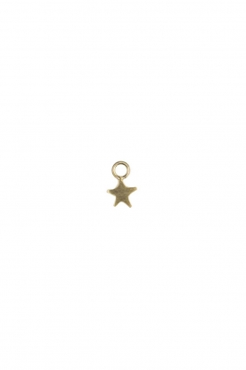 Plated gold charm Assymetric Star (per piece) | gold