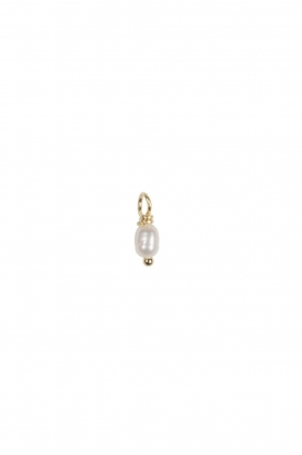 Betty Bogaers |  Plated gold charm Pearl (per piece) | gold