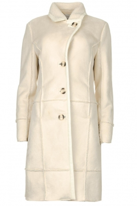Nenette | Faux lammy coat Paula | natural