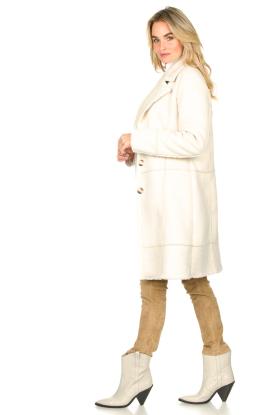 Look Faux lammy coat Paula