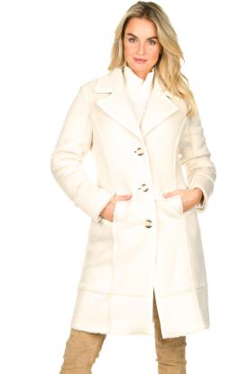 Nenette | Faux lammy coat Paula | naturel