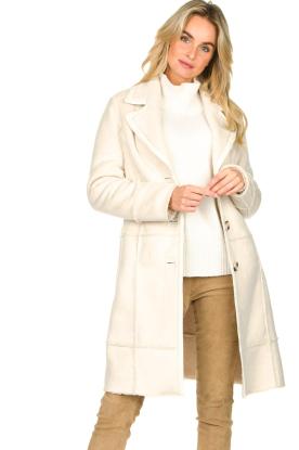 Nenette |  Faux lammy coat Paula | natural