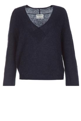 Essentiel Antwerp | Warme trui met V-hals Paling | donkerblauw