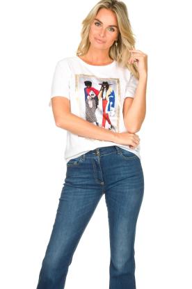 Nenette | T-shirt met opdruk Dresda | wit