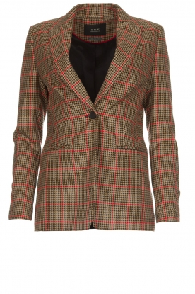 Set |  Blazer with houndstooth print Bello | brown