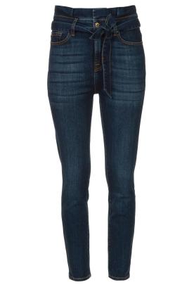 7 For All Mankind |  Slim paperbag jeans Soho | dark blue