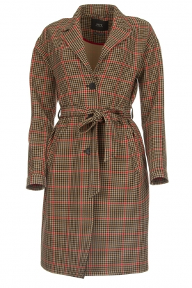 Set |  Coat with houndstooth print Vay | brown