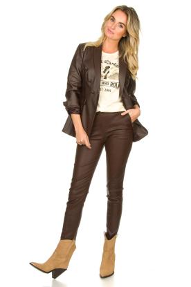 Look Faux leather blazer Billa