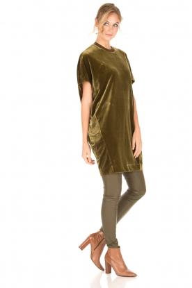 By Malene Birger | Velvet jurk Nitrak | groen