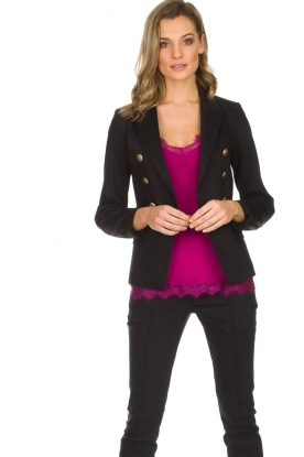 Set |  Double-breasted blazer Jenthe | black