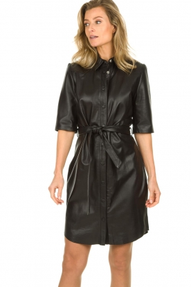 Dante 6 |  Leather dress Baroon | black