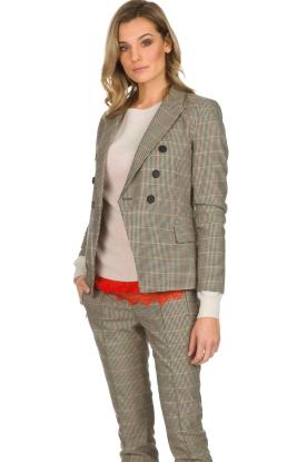 Set | Houndstooth blazer Louise | bruin