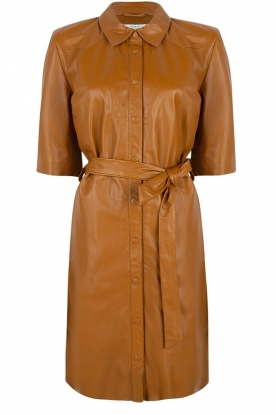 Dante 6 |  Leather dress Baroon | camel