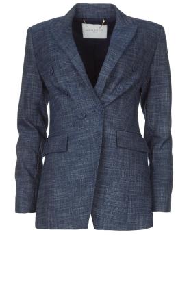 Nenette | Denim blazer Basilea | blauw
