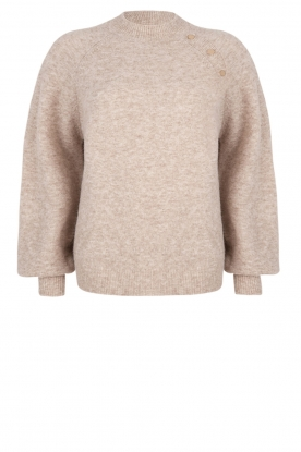 Dante 6 |  Sweater with balloon sleeves Valkon | beige