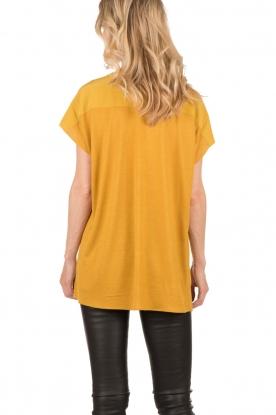 Dante 6 | Zijden top Leana | mosterd geel