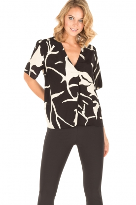 By Malene Birger | Blouse Nanah | zwart/wit