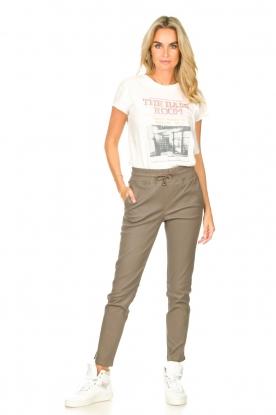 Look Cotton T-shirt with imprint Karina