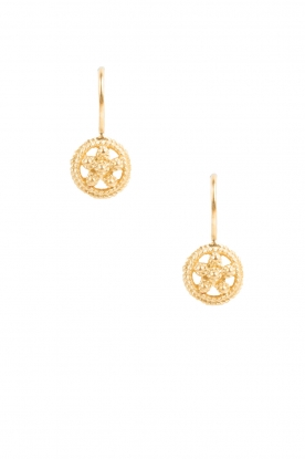 Betty Bogaers | 14k gouden oorbellen Romantic Flower | Goud