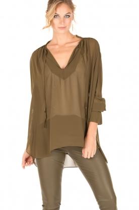 By Malene Birger | Los vallende blouse Bolivian | groen