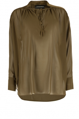 By Malene Birger |  Loose fitted blouse Bolivian | green
