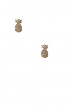 14k plated gold earrings Pineapple | gold